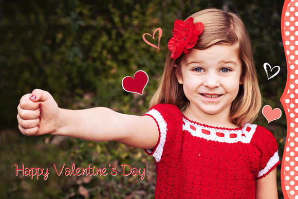 "A lolly pop was ""put"" into her hand as a valentine!"